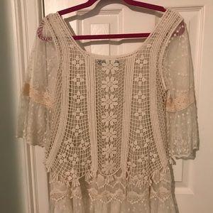 Boutique white lace shirt